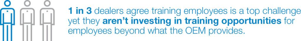 1 in 3 dealers training opps